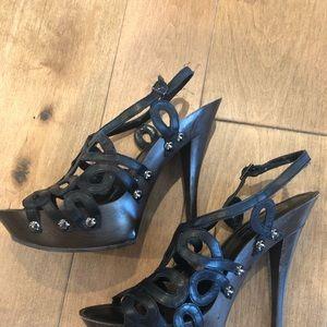 Worn 4x  Jessica Simpson Black strappy heels.